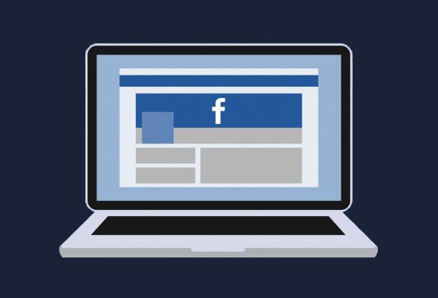 Laptop, benne a Facebook pályázatíró oldalunk
